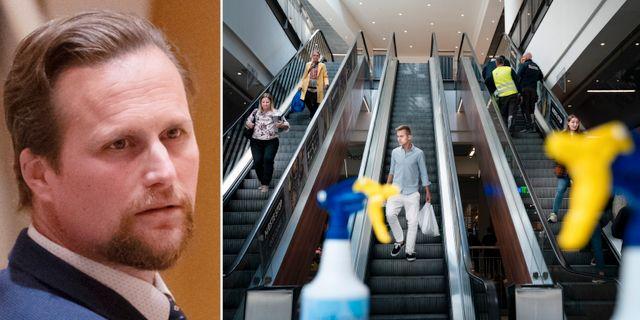 Carl Johan Sonesson/köpcentrum i Köpenhamn.  TT