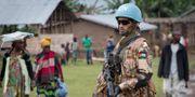 FN-soldat i Kongo Kinshasa. Arkivbild.  Marc Hofer / TT NYHETSBYRÅN