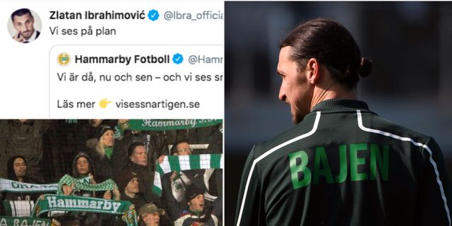 Tweeten. Illustrationsbilder Skärmdump från Zlatans twitter.