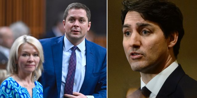 Andrew Scheer / Justin Trudeau. TT
