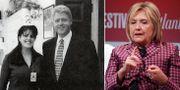 Monica Lewinsky och Bill Clinton/Hillary Clinton. TT
