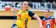 Isabelle Gulldén under träningsmatchen mot Norge i veckan. LUDVIG THUNMAN / BILDBYRÅN
