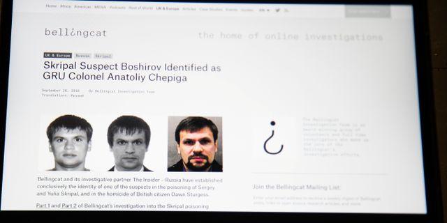 Personerna som misstänks för förgiftningen av Sergej Skripal. Alexander Zemlianichenko / TT NYHETSBYRÅN
