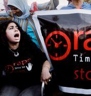 Arkivbild på demonstrationer i Egyptens huvudstad Kairo. Amr Nabil / TT NYHETSBYRÅN