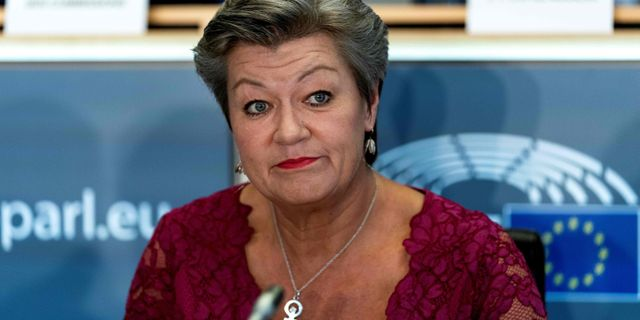 Ylva Johansson (S). Arkivbild. KENZO TRIBOUILLARD / AFP
