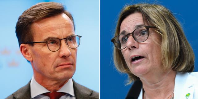 Ulf Kristersson (M), Isabella Lövin (MP) TT