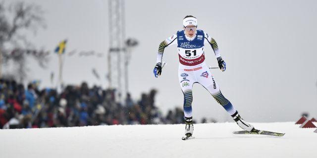 Arkivbild. Ebba Andersson vid en annan tävling.  Björn Larsson Rosvall/TT / TT NYHETSBYRÅN