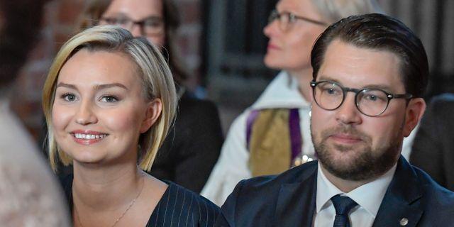 KD- och SD-ledarna vid riksmötets öppnande. Janerik Henriksson/TT / TT NYHETSBYRÅN