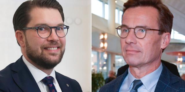 Jimmie Åkesson och Ulf Kristersson. TT