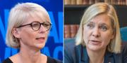 Moderaternas ekonomisk-politiska talesperson Elisabeth Svantesson (M) och finansminister Magdalena Andersson (S). TT