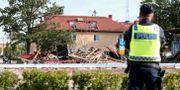 Bilder på explosionsplatsen, Garnisonen, Linköping.  Jeppe Gustafsson/TT / TT NYHETSBYRÅN
