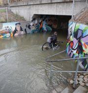 Arkivbild. Översvämningar på Ekeleden i Kållered utanför Göteborg.  Adam Ihse/TT / TT NYHETSBYRÅN