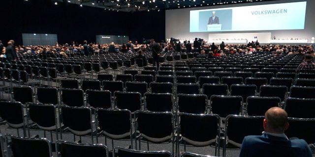 Bild från Volkswagens årsstämma i maj.  Michael Sohn / TT / NTB Scanpix