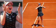 Amanda Anisimova firar segern. Bildbyrån