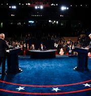 Joe Biden och Donald Trump. Jim Bourg / TT NYHETSBYRÅN