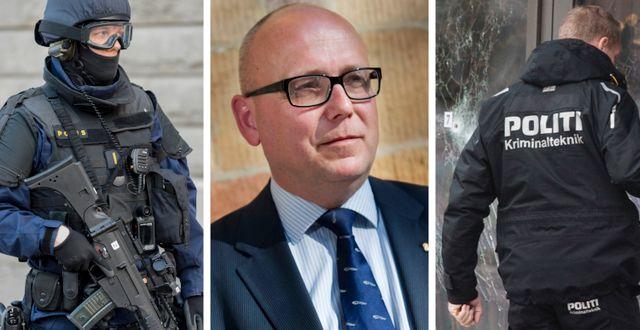 Svensk polis, Magnus Ranstorp och dansk polis. TT
