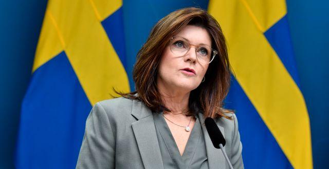 Eva Nordmark (S). Jessica Gow/TT / TT NYHETSBYRÅN