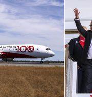 Världens längsta testflygning landade i Sydney i dagarna.  såg två soluppgångar och TT Nyhetsbyrån