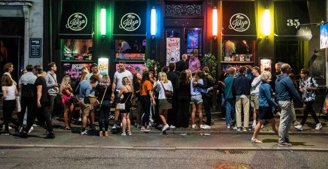 Ibiza Beach Bar i Köpenhamn. 'lafur Steinar Rye Gestsson / TT NYHETSBYRÅN