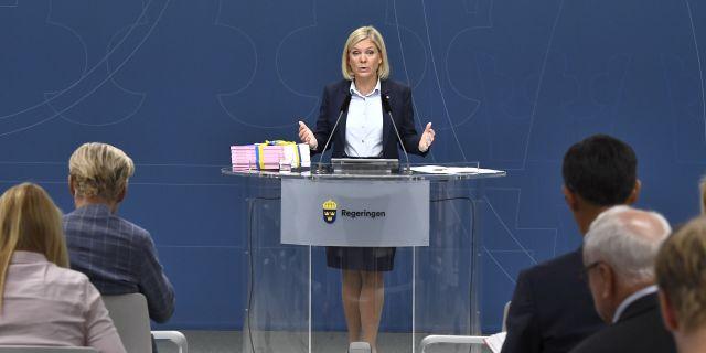 Finansminister Magdalena Andersson.  Claudio Bresciani/TT / TT NYHETSBYRÅN