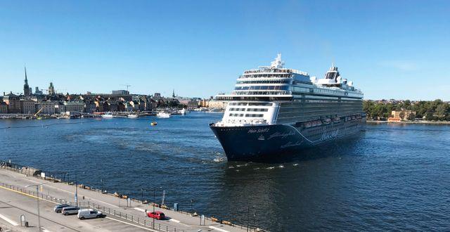 TUIS:s fartyg Mein Schiff ute på Scenic View med en timmes stopp i Stockholm. BIRGITTA NILSSON/TT / TT NYHETSBYRÅN
