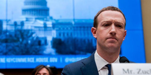 Mark Zuckerberg. Andrew Harnik / TT NYHETSBYRÅN