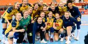 Sverige jublar efter matchen. LUDVIG THUNMAN / BILDBYRÅN