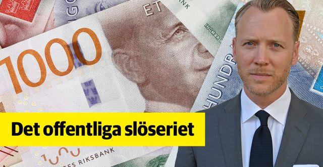 Christian Ekström, vd på Skattebetalarna.  TT/Skattebetalarna