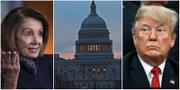 Nancy Pelosi, tillträdande talman i representanthuset och USA:s president Donald Trump  TT