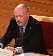 Morgan Johansson under dagens KU-utfrågning Carl-Olof Zimmerman/TT / TT NYHETSBYRÅN