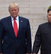 Trump och Kim vid den demilitariserade zonen i juni. Susan Walsh / TT NYHETSBYRÅN