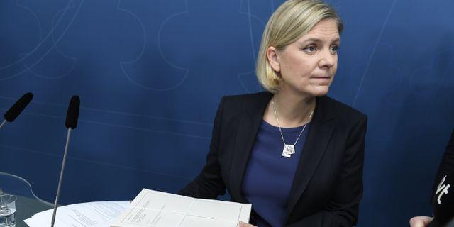 Magdalena Andersson (S). Pontus Lundahl/TT / TT NYHETSBYRÅN