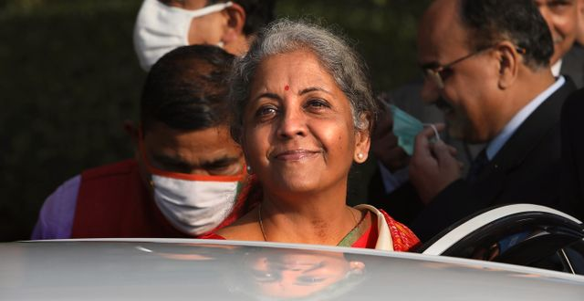 Indiens finansminister Nirmala Sitharaman.  Manish Swarup / TT NYHETSBYRÅN