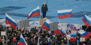 Putin vid ett möte.  Ivan Sekretarev / TT NYHETSBYRÅN