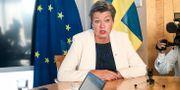 Tillträdande inrikeskommissionären Ylva Johansson höll pressträff i Bryssel den 10 september.  Wiktor Nummelin/TT / TT NYHETSBYRÅN