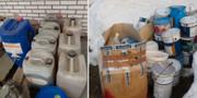 Kemikalier som påträffats i Strömsund som misstänks ha varit avsedda för attentat. TT