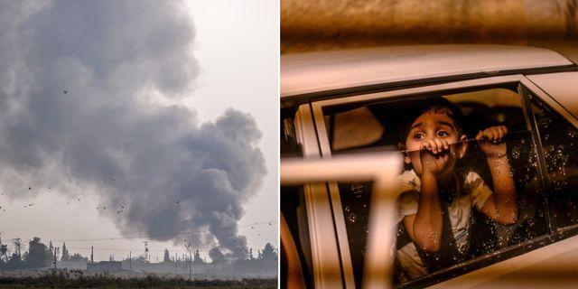 Bilder från Syrien.  TT.