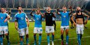 Malmöspelarna firar segern. LUDVIG THUNMAN / BILDBYRÅN