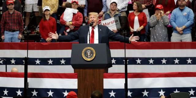 Donald Trump. Mark Humphrey / TT NYHETSBYRÅN/ NTB Scanpix