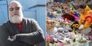 Nyzeeländaren Paul Campell har hanterat vapen sedan tioårsåldern/Blommor utanför Linwood-moskén i Christchurch. TT