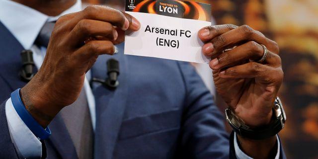 Eric Abidal lottade Arsenal mot CSKA Moskva PIERRE ALBOUY / TT NYHETSBYRÅN