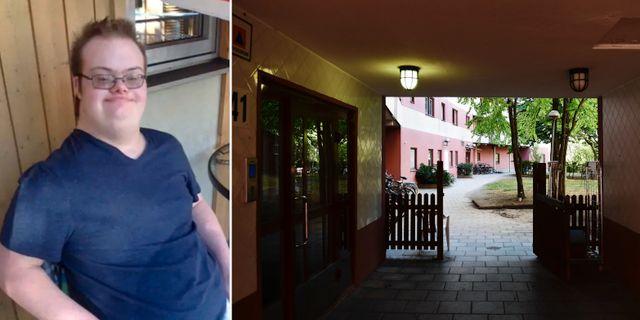 Eric Torell/innergården där han sköts till döds. Privat/TT
