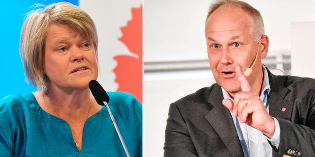 Ulla Andersson/Jonas Sjöstedt. TT
