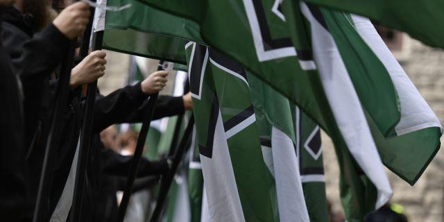 NMR-demonstranter på Kungsholms Torg i Stockholm. Pontus Lundahl/TT / TT NYHETSBYRÅN