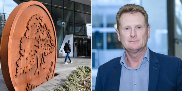 Utanför Swedbanks huvudkontor i Sundbyberg, Thomas Langrot, chefsåklagare på EBM.  TT