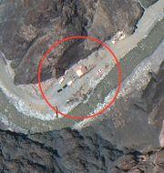 Satellitbild från gränsområdet den 22 juni TT NYHETSBYRÅN