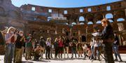 Vid en pressträff idag meddelades att turistattraktionen Colosseum återigen ska öppnas. Domenico Stinellis / TT NYHETSBYRÅN