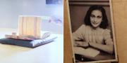 Forskare visar upp de nya fynden/Anne Frank. TT