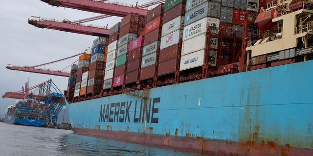 Arkivbild av Maersk-fartyg Amanda Perobelli / TT NYHETSBYRÅN