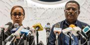 Talespersoner för premiärministern vid en pressträff om kuppförsöket.  EDUARDO SOTERAS / AFP